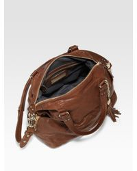Olivia Harris | Brown Zip-pocket Classic Trapezoid Satchel | Lyst