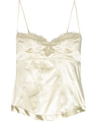 Roberto Cavalli | White Stretch-silk Camisole Top | Lyst