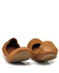 Tory Burch - Brown Eddie - Ballet Flat in Tan Leather - Lyst