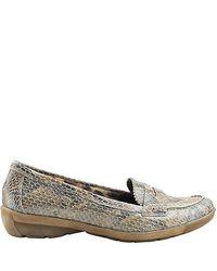 Aquatalia | Multicolor Wander - Taupe Snake Loafer | Lyst