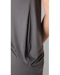 Enza Costa - Gray Cowl Neck Dress - Lyst