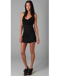 Nightcap | Black Ruffle Dress | Lyst