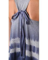 Splendid - Blue Navy Eclipse Heather Faded Tie Dye Sleeveless Top - Lyst