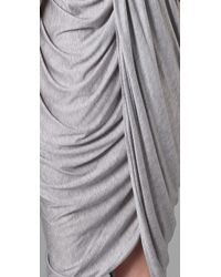Thakoon | Gray Addition Strapless Draped Dress | Lyst