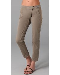 Vince | Green Crossover Waist Twill Pants | Lyst