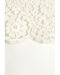 Erdem - White Niji Crepe and Lace Dress - Lyst