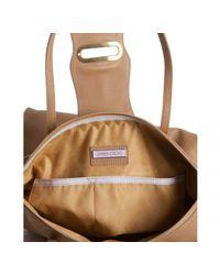 Jimmy Choo - Natural Nude Leather Tilda Flap Tote Bag - Lyst