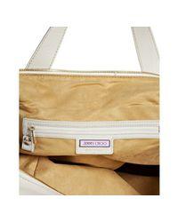 Jimmy Choo - White Cashmere Calf Leather Parker Shoulder Bag - Lyst