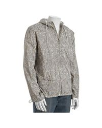 Marc By Marc Jacobs | White Grey Paisley Poly-nylon Hooded Pullover Jacket for Men | Lyst