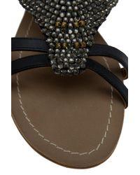 Day Birger et Mikkelsen - Black Embellished Flat Sandals - Lyst