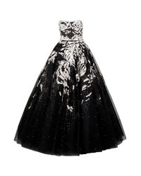 Marchesa | Black Tulle and Sequin Gown | Lyst