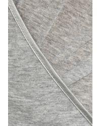 Kiki de Montparnasse - Gray Wrap-front Jersey Teddy - Lyst
