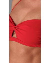 Naelie - Red Gina Cutout Bikini - Lyst