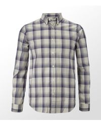 Acne | Blue Straight Check Shirt for Men | Lyst