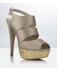 Carvela Kurt Geiger | Metallic Gambia Platform Sandal | Lyst