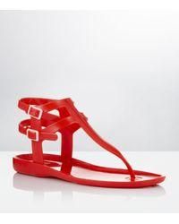 Carvela Kurt Geiger | Kink Jelly Sandals Red | Lyst