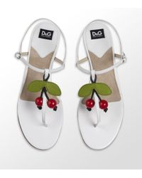 Dolce & Gabbana | Red Naveeda Leather Sandal | Lyst