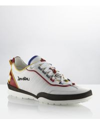 DSquared² | White Stitch Trainers for Men | Lyst