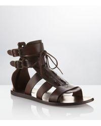Kurt Geiger | Brown Beck Leather Sandal for Men | Lyst