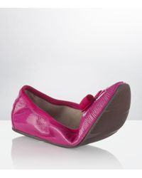 Ferragamo | Purple My Joy Patent Flat | Lyst