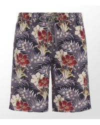 Paul Smith | Purple Long Flower Swim Short for Men | Lyst
