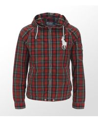 Ralph Lauren | Red Checked Hooded Windbreaker for Men | Lyst