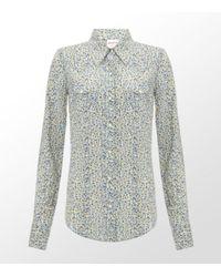 True Religion | Blue Floral Western Shirt | Lyst