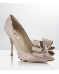 Valentino | Natural Stylish Bow Pump | Lyst