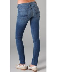 7 For All Mankind - Blue Gwenevere Super Skinny Jeans - Lyst
