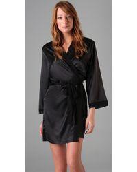 La Fee Verte | Black Silk Robe | Lyst