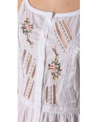 Beyond Vintage | White Peasant Cross Stitch Dress | Lyst