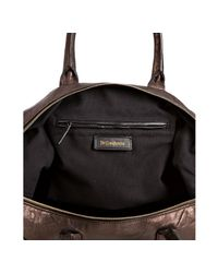 Saint Laurent | Brown Tobacco Lambskin Easy Medium Bag | Lyst