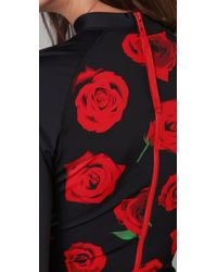 Pret-a-surf - Black Roses Rash Guard Top - Lyst