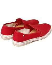 Rivieras - Red Mesh Slip-on Shoes for Men - Lyst