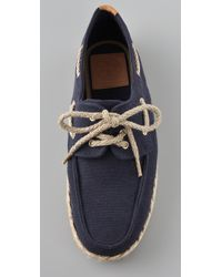 ae8798e7160 Lyst - Tory Burch Canvas Boat Shoes in Blue