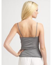 Armani | Gray Striped Jersey Camisole | Lyst