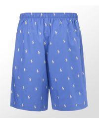 Ralph Lauren | Blue Pony Pyjama Short for Men | Lyst
