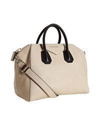 Givenchy | White Beige and Black Leather Antigona Medium Satchel | Lyst