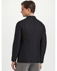 Armani - Black Deconstructed Wool/cashmere Blazer for Men - Lyst