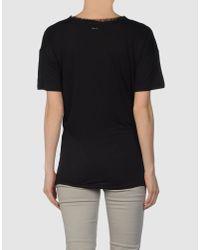 DSquared² - Black Lace T-shirt - Lyst