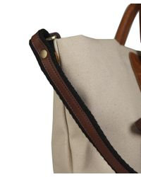 Jas MB - Natural Beige Canvas and Leather Shopper Bag - Lyst