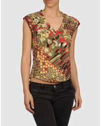 Just Cavalli | Black Sleeveless T-shirt | Lyst