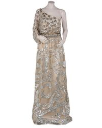 Naeem Khan - Natural Bead and Sequin Gown - Lyst
