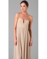 Zimmermann - Natural Strapless Maxi Dress - Lyst