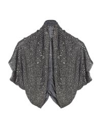 Alice + Olivia | Metallic Drea Beaded Cotton Shrug | Lyst