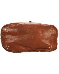 Olivia Harris - Brown Zip Pocket Trapezoid Satchel - Lyst