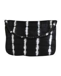 Sammy Ethiopia | Black Tie Dye Strip Leather Clutch Bag | Lyst