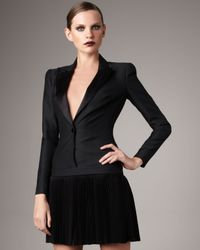 Alexander McQueen | Black Tuxedo Dress | Lyst