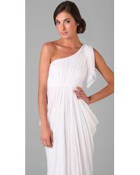 Alice + Olivia - White Kelly Long One Shoulder Dress - Lyst
