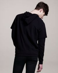 Givenchy - Black Layered Pullover Hoodie for Men - Lyst